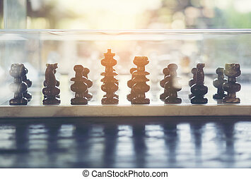 chess on wooden table
