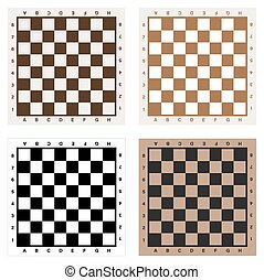 Chess or checkmate board for print. Vector illustration. -...