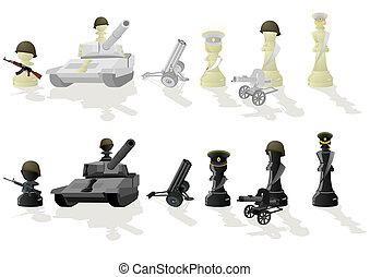 Chess paramilitary figures