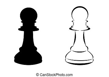 Chess Pawn - A black tribal chess pawn tattoo