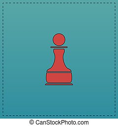 Chess Pawn computer symbol