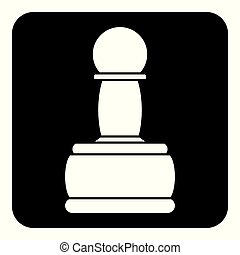 Chess pawn icon.