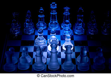 chess - crystal chess pieces