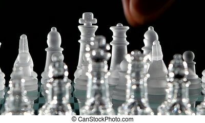 Chess piece .move the queen in chess - Chess piece ..move...