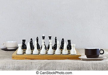 Chess Pieces Are Placed And Ready For The Game