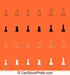 Chess pieces icon .