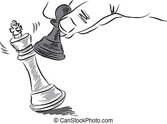 chess pieces illustration business