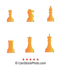 Chess pieces it is icon .
