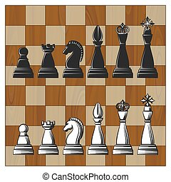 Chess Pieces on Wooden Chess Board