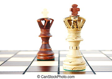 chess pieces showing concept of power strategy and success...