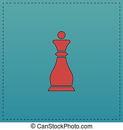 Chess queen computer symbol