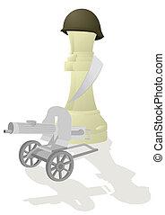 Chess Queen White - Heavy