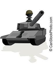 Chess Rook Black - Tank