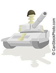 Chess Rook White - Tank