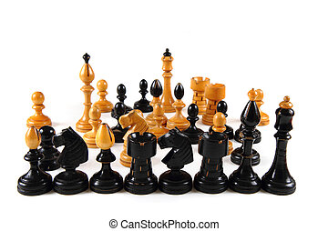 chess set isolated on the white background