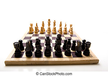 Chess Set on white Background