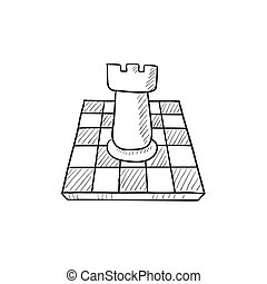 Chess sketch icon.
