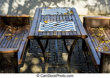 Chess table in the park