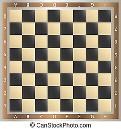 CHESS - table of chess,  illustration