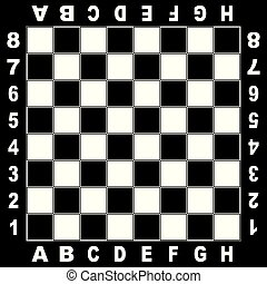 Chess table white black board for competition