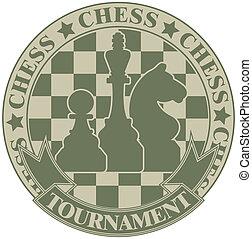 Chess tournament symbol - The vector image Chess tournament...