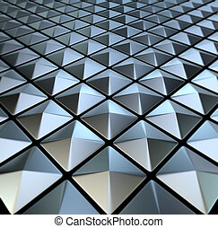 Chessboard - 3d image Background of metal squares chessboard