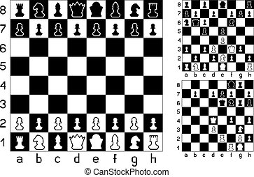 Chessboard and chess