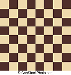 Chessboard background - Chessboard brown - vector...