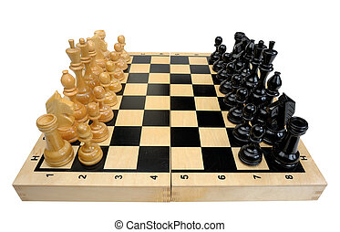 Chessboard - Chess board with pieces apart before the party