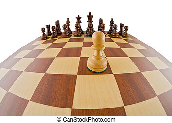 Chessboard - Fisheye view of a chessboard. The chessboard is...