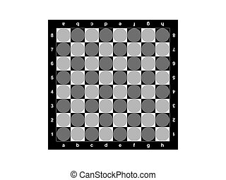 Chessboard on a white background