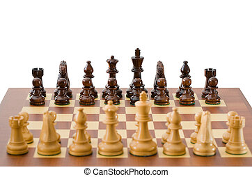 Chessboard - Photo of a chessboard with a game in progress....