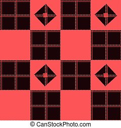 Chessboard Red Background