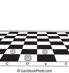 Chessboard. Vector illustration