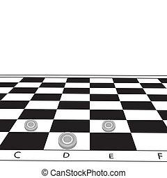 Chessboard. Vector illustration