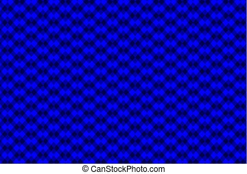 Chessboard vector pattern - blue background