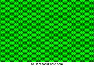 Chessboard vector pattern - green background
