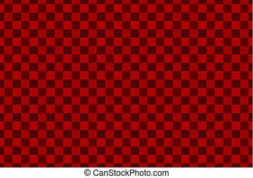 Chessboard vector pattern - red background