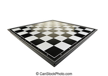 Chessboard view perspective. It is isolated on a white...
