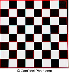Chessboard with black and white fields