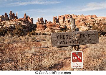 Chessler Park Sign
