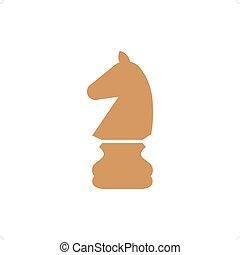 Chessman - Chess knight vector icon. Chess icon...