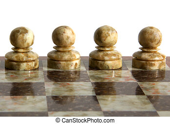 Chessmen isolated on the white background