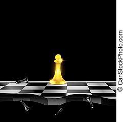 chessmen, złoty, abstrakcyjny