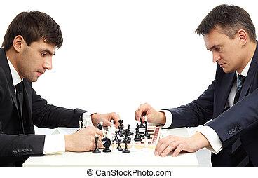 chessmen, zadumany