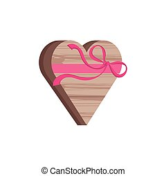 chest in heart shape with bow