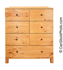 Chest of drawers - Contemporary pine chest of drawers...