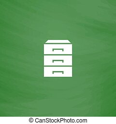 chest of drawers icon - Chest of drawers. Flat Icon....