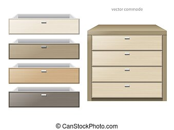 Chest of drawers multicolor - Front chest and different...