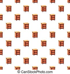 Chest of drawers pattern seamless repeat in cartoon style...